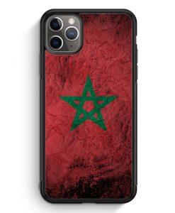 iPhone 11 Pro Max Silikon Hülle - Marokko Splash Flagge