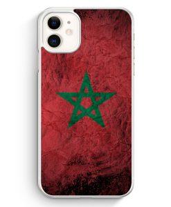 iPhone 11 Hardcase Hülle - Marokko Splash Flagge