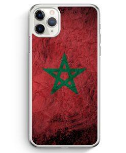 iPhone 11 Pro Hardcase Hülle - Marokko Splash Flagge