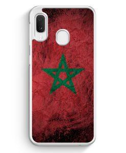 Samsung Galaxy A20e Hardcase Hülle - Marokko Splash Flagge