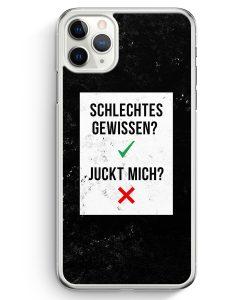 iPhone 11 Pro Hardcase Hülle - Schlechtes Gewissen? Juckt Mich?