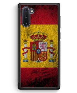 Samsung Galaxy Note 10 Silikon Hülle - Spanien Splash Flagge