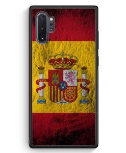 Samsung Galaxy Note 10+ Plus Silikon Hülle - Spanien Splash Flagge