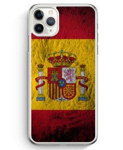 iPhone 11 Pro Max Hardcase Hülle - Spanien Splash Flagge