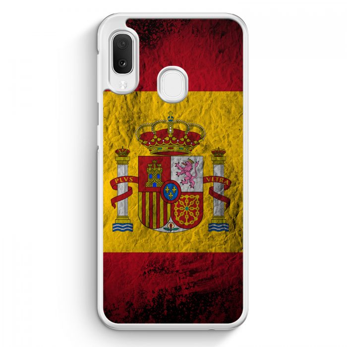 Samsung Galaxy A20e Hardcase Hülle - Spanien Splash Flagge