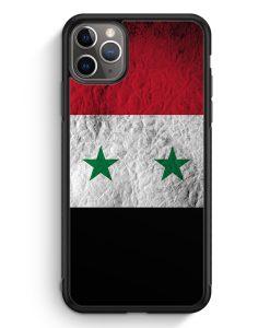 iPhone 11 Pro Max Silikon Hülle - Syrien Splash Flagge