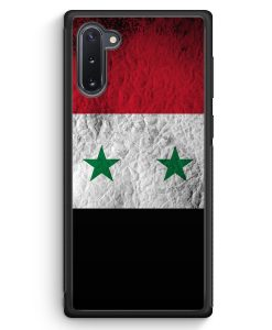 Samsung Galaxy Note 10 Silikon Hülle - Syrien Splash Flagge