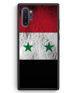 Samsung Galaxy Note 10+ Plus Silikon Hülle - Syrien Splash Flagge