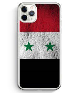 iPhone 11 Pro Hardcase Hülle - Syrien Splash Flagge
