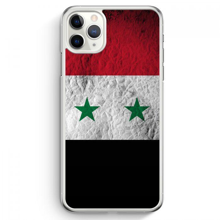iPhone 11 Pro Max Hardcase Hülle - Syrien Splash Flagge