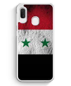 Samsung Galaxy A20e Hardcase Hülle - Syrien Splash Flagge