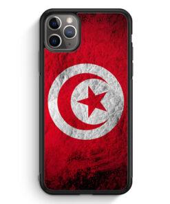 iPhone 11 Pro Max Silikon Hülle - Tunesien Splash Flagge