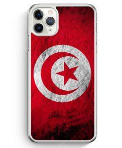 iPhone 11 Pro Max Hardcase Hülle - Tunesien Splash Flagge