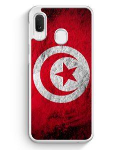Samsung Galaxy A20e Hardcase Hülle - Tunesien Splash Flagge