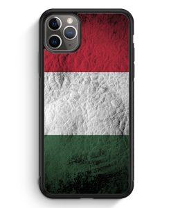 iPhone 11 Pro Silikon Hülle - Ungarn Splash Flagge
