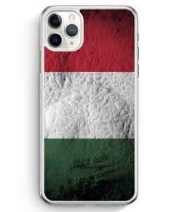 iPhone 11 Pro Max Hardcase Hülle - Ungarn Splash Flagge
