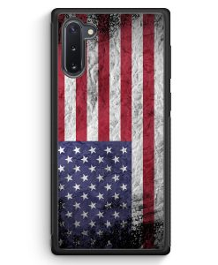 Samsung Galaxy Note 10 Silikon Hülle - USA Amerika Splash Flagge