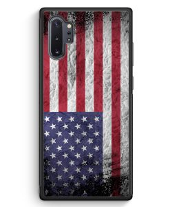 Samsung Galaxy Note 10+ Plus Silikon Hülle - USA Amerika Splash Flagge