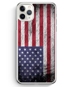iPhone 11 Pro Hardcase Hülle - USA Amerika Splash Flagge