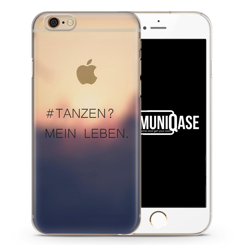 Tanzen? Mein Leben. Schwarz - transparente Handyhülle für iPhone 6 Plus & 6s Plus