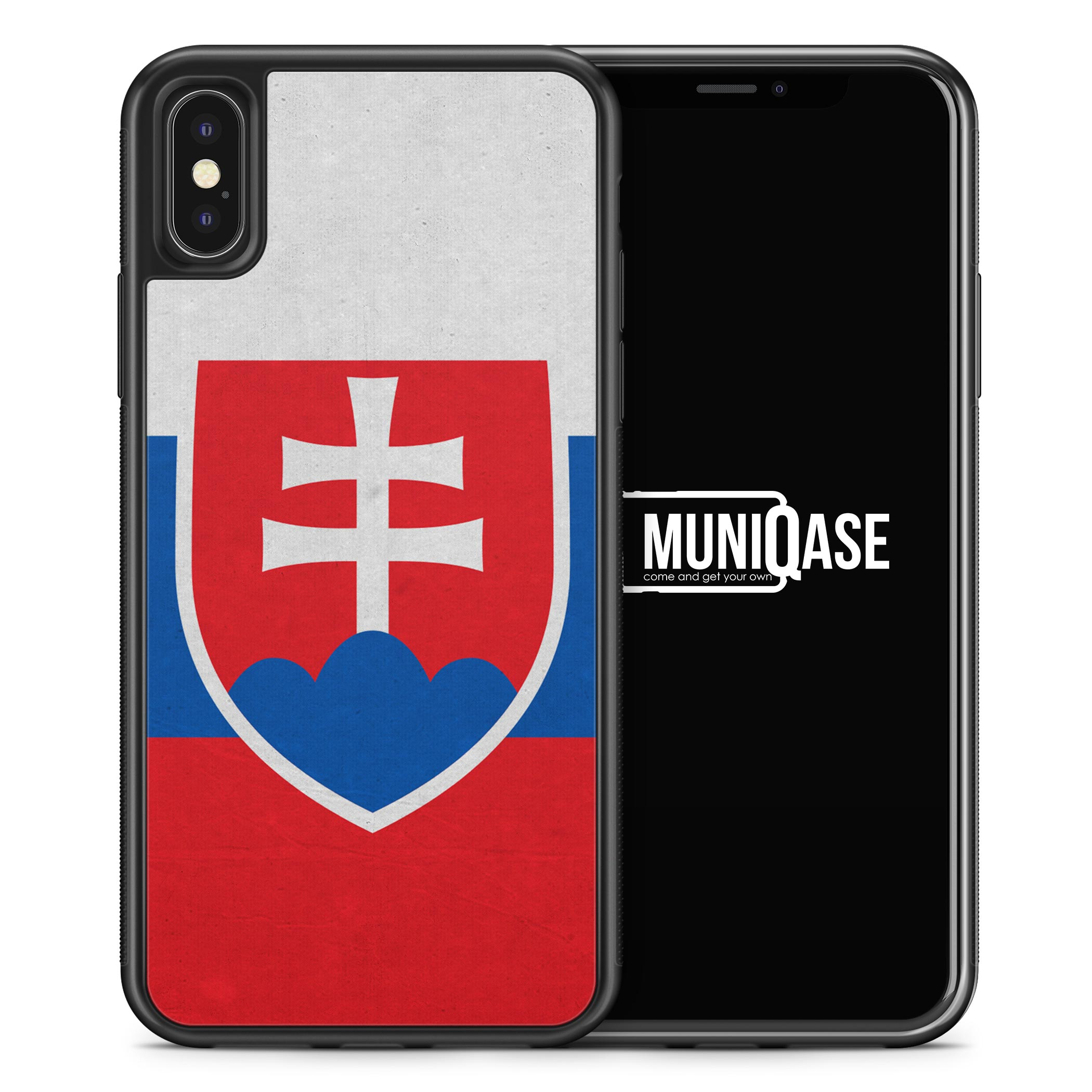 iPhone X Hülle SILIKON - Slowakei Flagge
