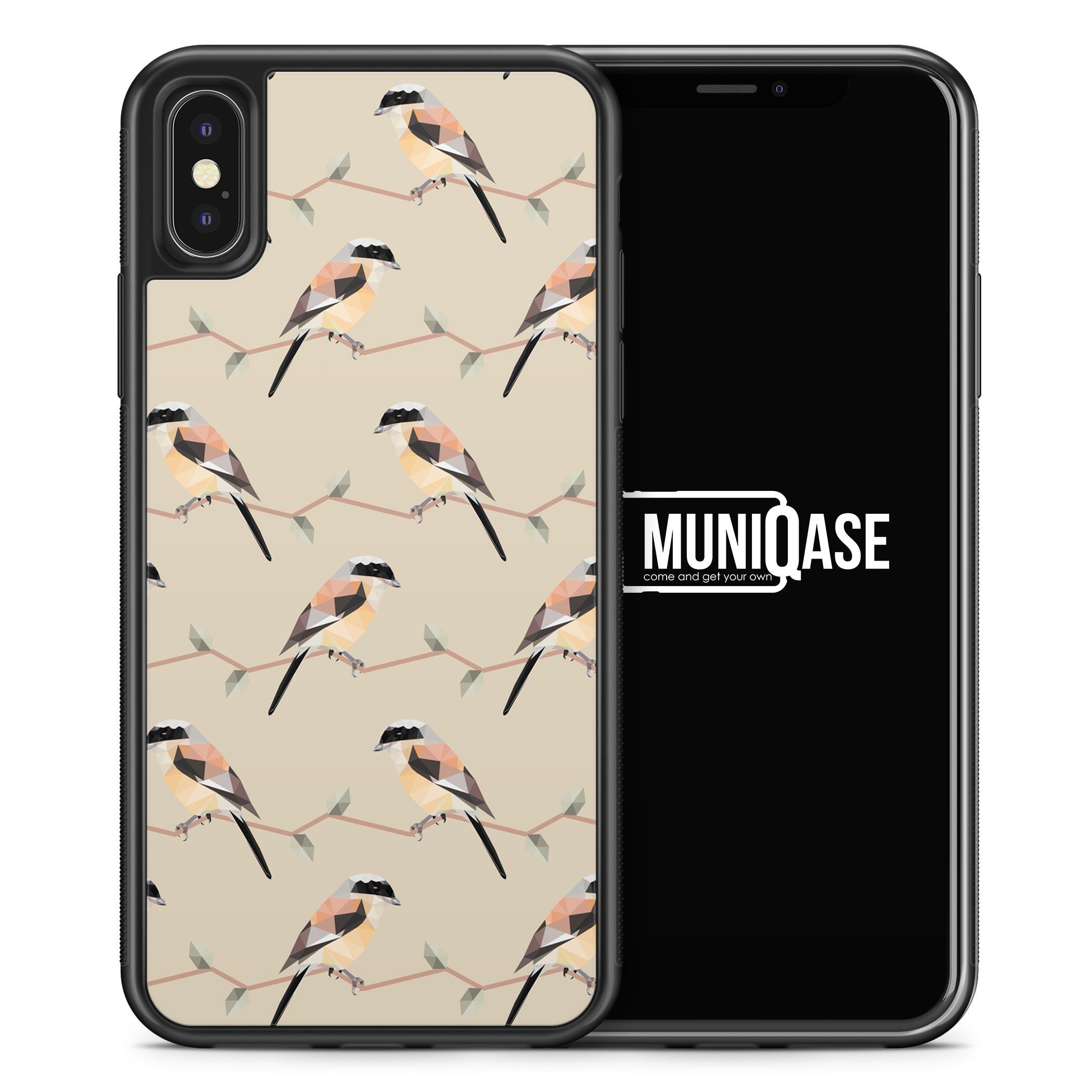 iPhone X Hülle SILIKON - Abstrakte Vögel Muster