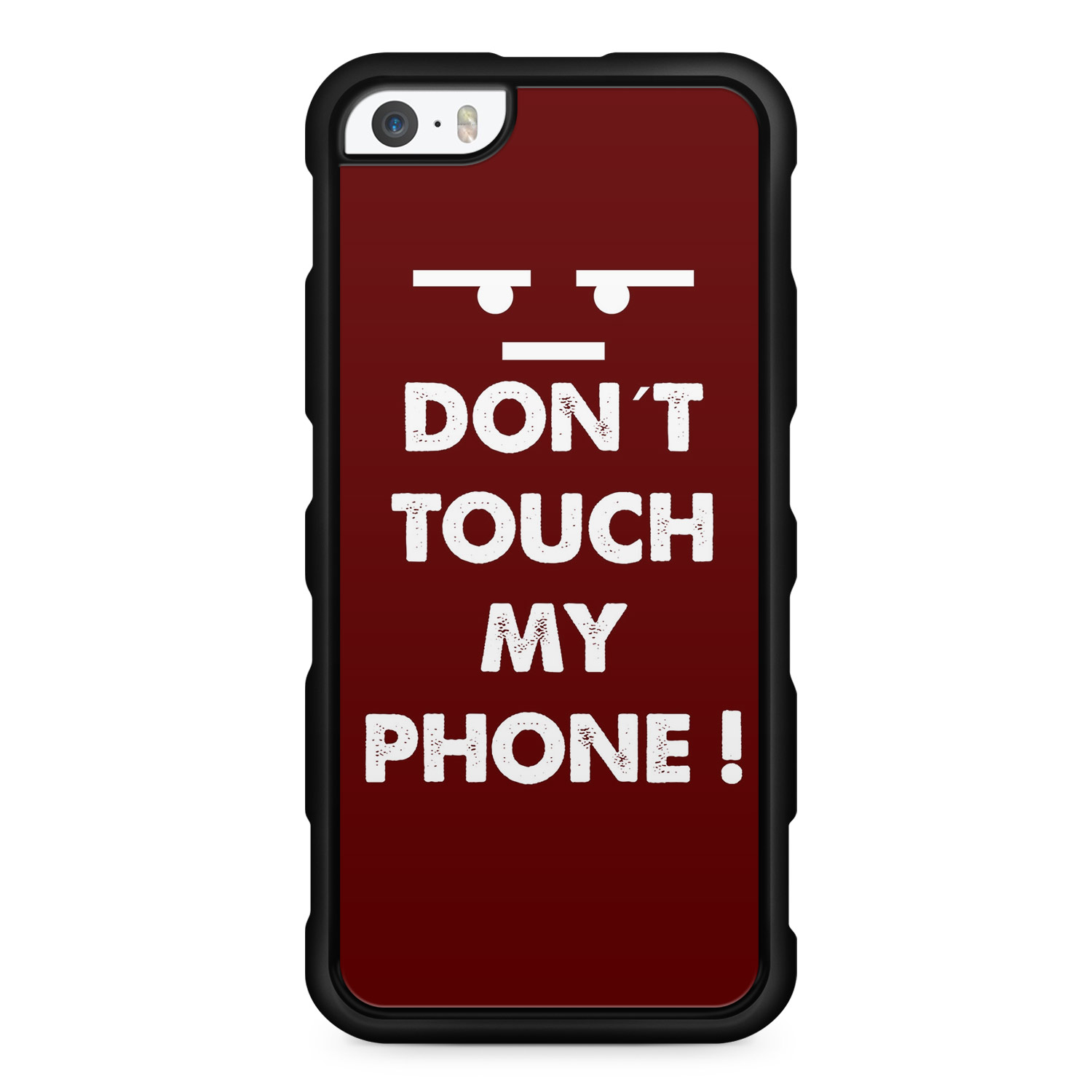 Don´t Touch My Phone Rot - Silikon Handyhülle für iPhone SE