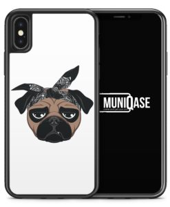 iPhone X Hülle SILIKON - Hiphop Mops
