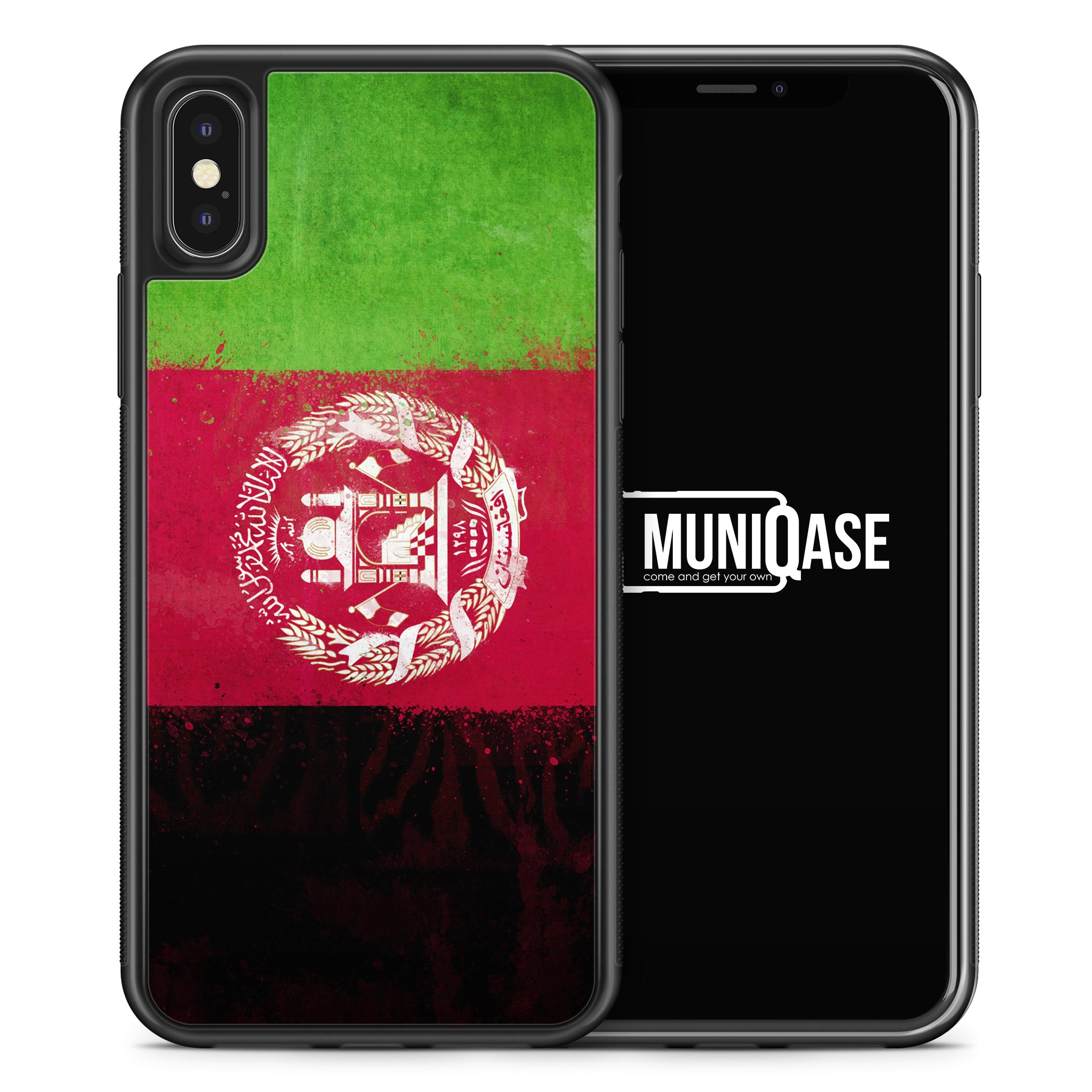 iPhone X Hülle SILIKON - Afghanistan Grunge