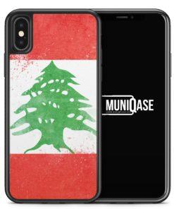 iPhone X Hülle SILIKON - Libanon Grunge Lebanon