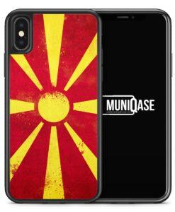 iPhone X Hülle SILIKON - Mazedonien Grunge Makedonija Macedonia
