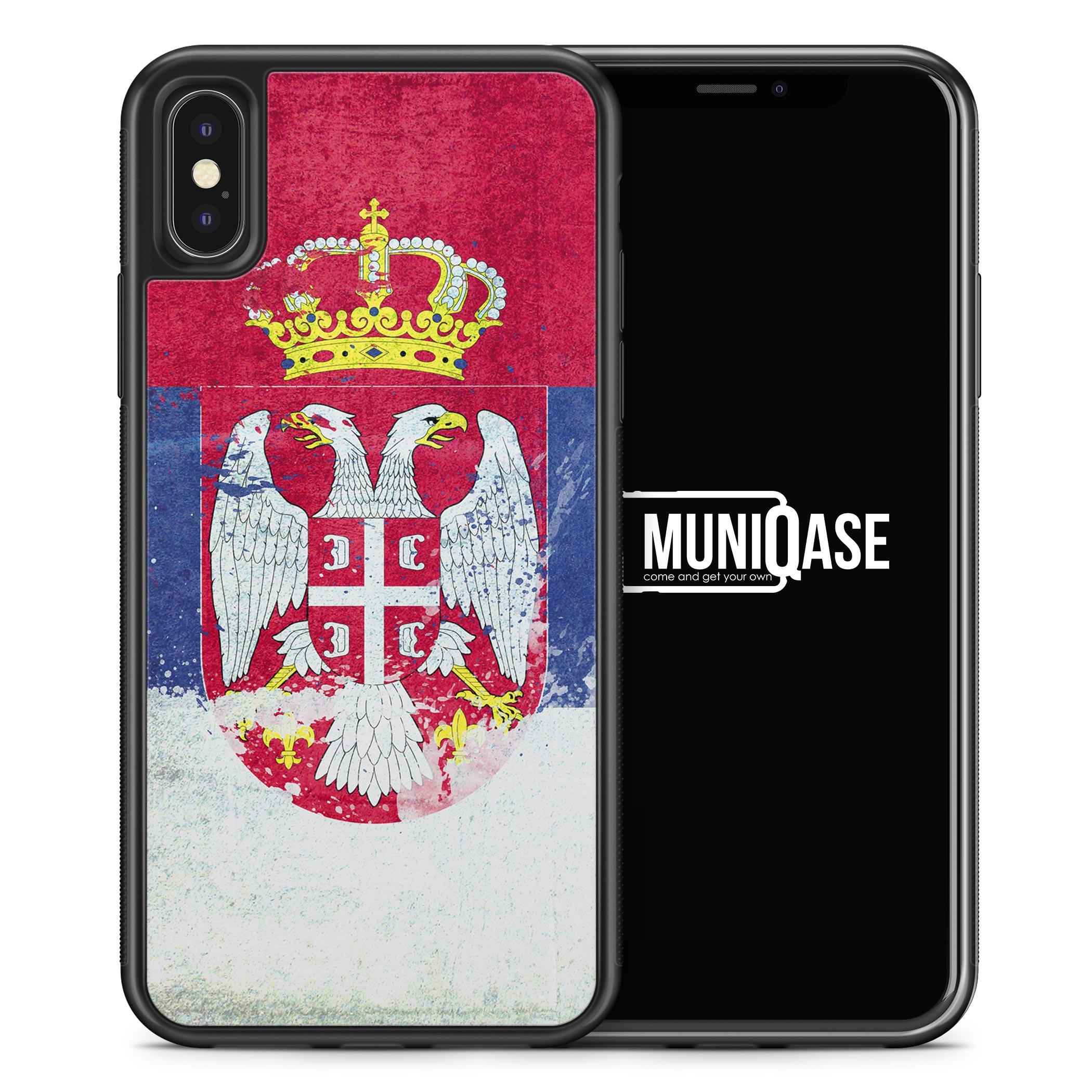 iPhone X Hülle SILIKON - Serbien Srbija Grunge Serbia