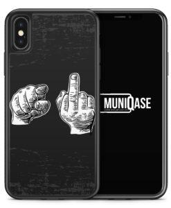 iPhone X Hülle SILIKON - Du & Mittelfinger