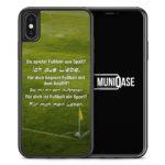 iPhone X Hülle SILIKON - Fußball Liebe