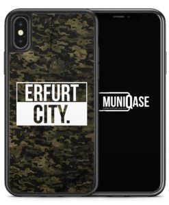 iPhone X Hülle SILIKON - Erfurt City Camouflage