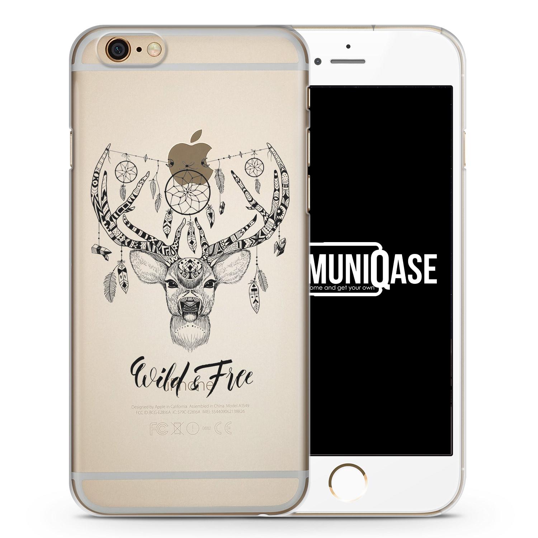 Wild & Free Aztek Hirsch - transparente Handyhülle für iPhone 6 Plus & 6s Plus