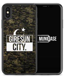 iPhone X Hülle SILIKON - Giresun City Camouflage