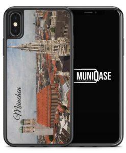 iPhone X Hülle SILIKON - München Schriftzug Skyline Foto