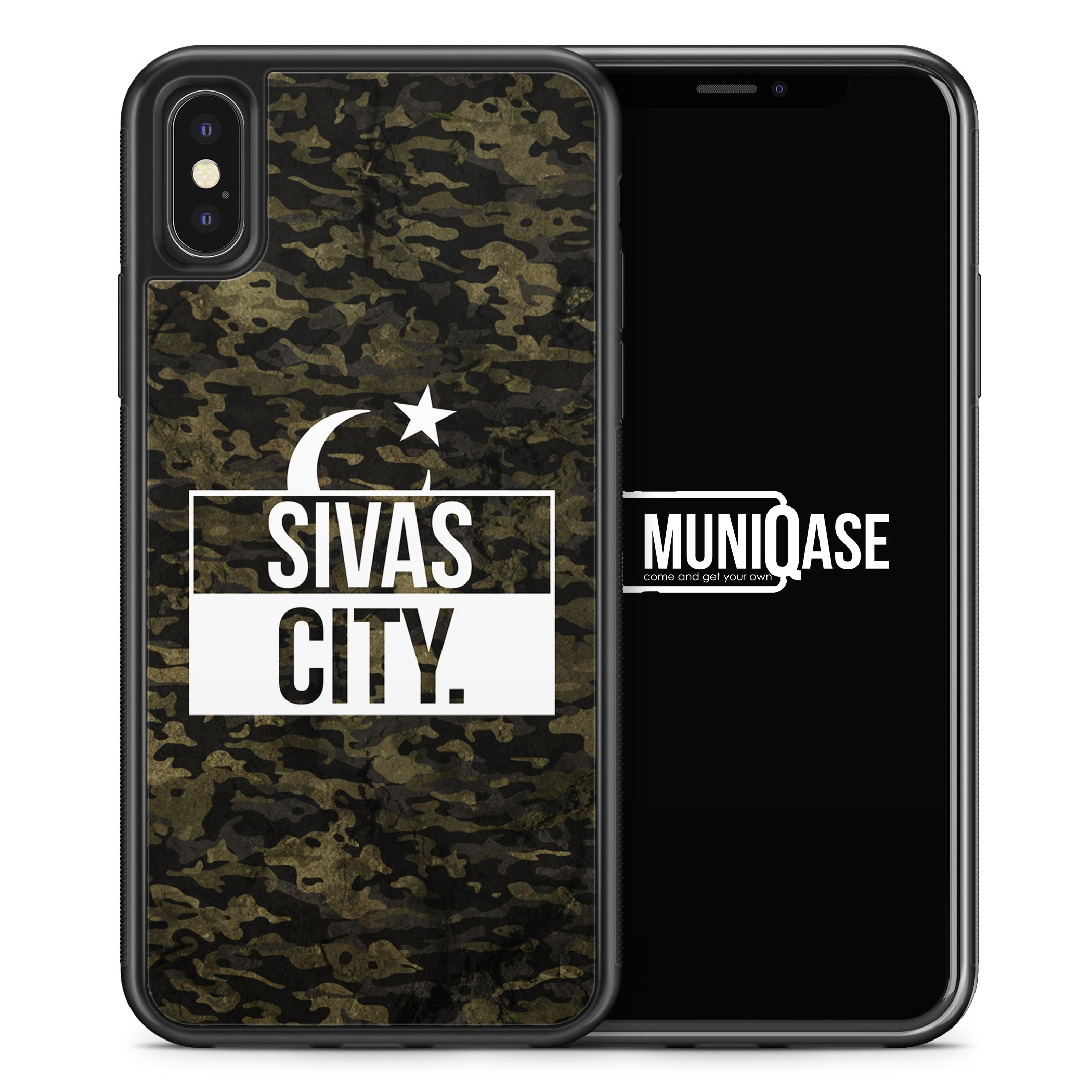 iPhone X Hülle SILIKON - Sivas City Camouflage