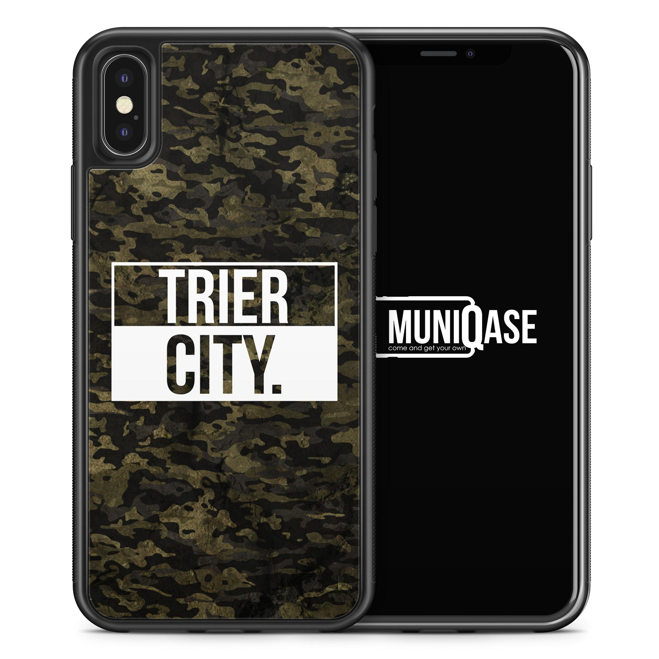 iPhone X Hülle SILIKON - Trier City Camouflage