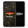 iPhone X Hülle SILIKON - Deutschland Camouflage mit Schriftzug