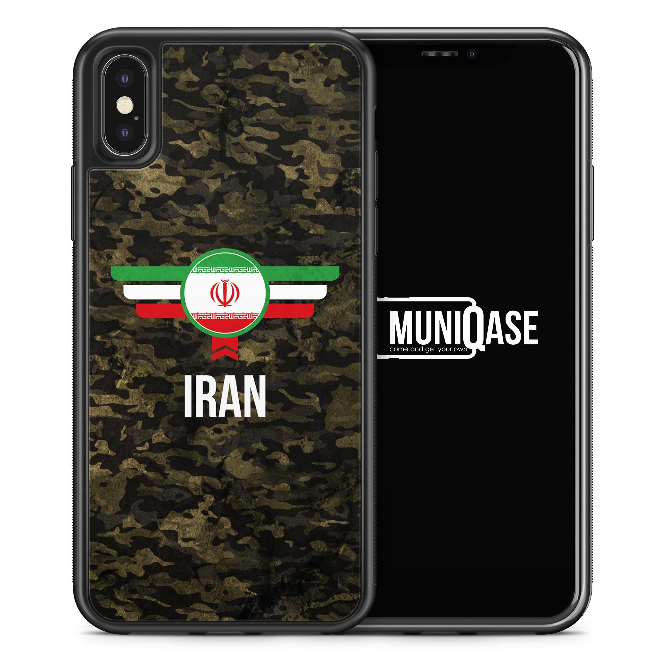 iPhone X Hülle SILIKON - Iran Camouflage mit Schriftzug