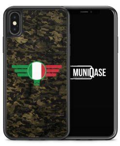 iPhone X Hülle SILIKON - Italia Italien Camouflage