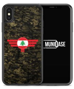 iPhone X Hülle SILIKON - Libanon Lebanon Camouflage
