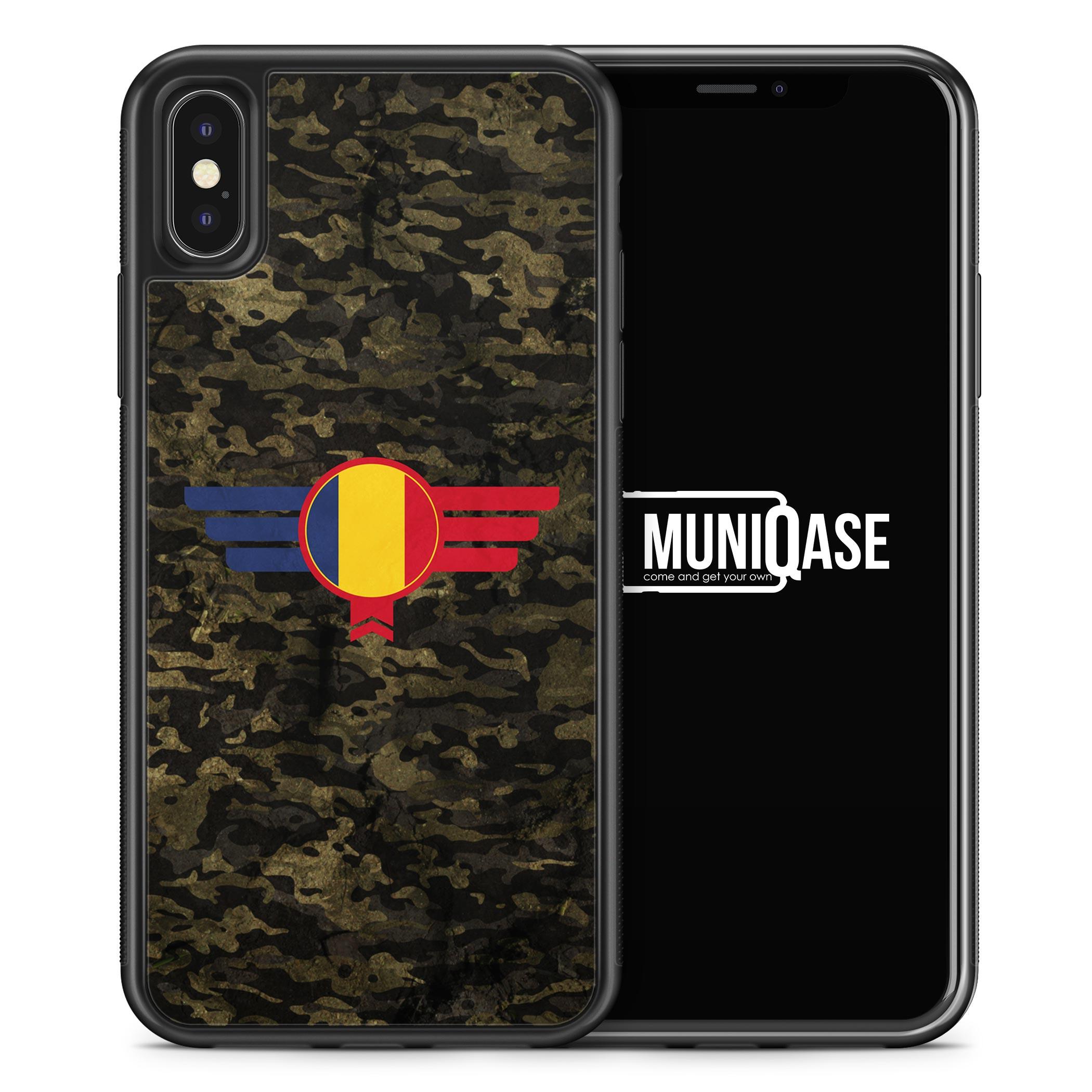 iPhone X Hülle SILIKON - Romania Rumänien Camouflage