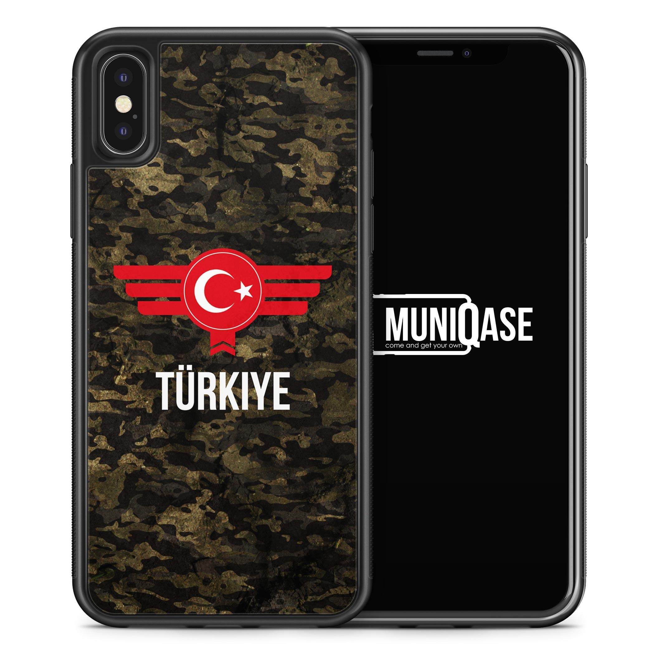 iPhone X Hülle SILIKON - Türkiye Türkei Camouflage mit Schriftzug