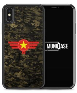 iPhone X Hülle SILIKON - Vietnam Camouflage