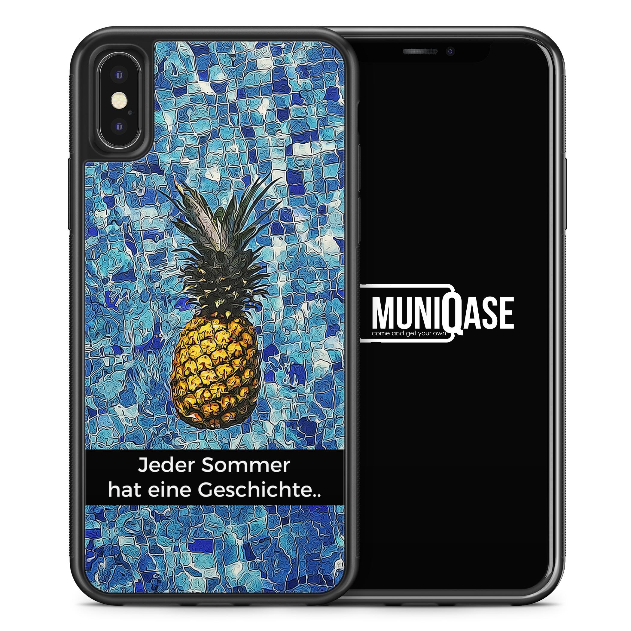 iPhone X Hülle SILIKON - Jeder Sommer hat eine Geschichte - Ananas