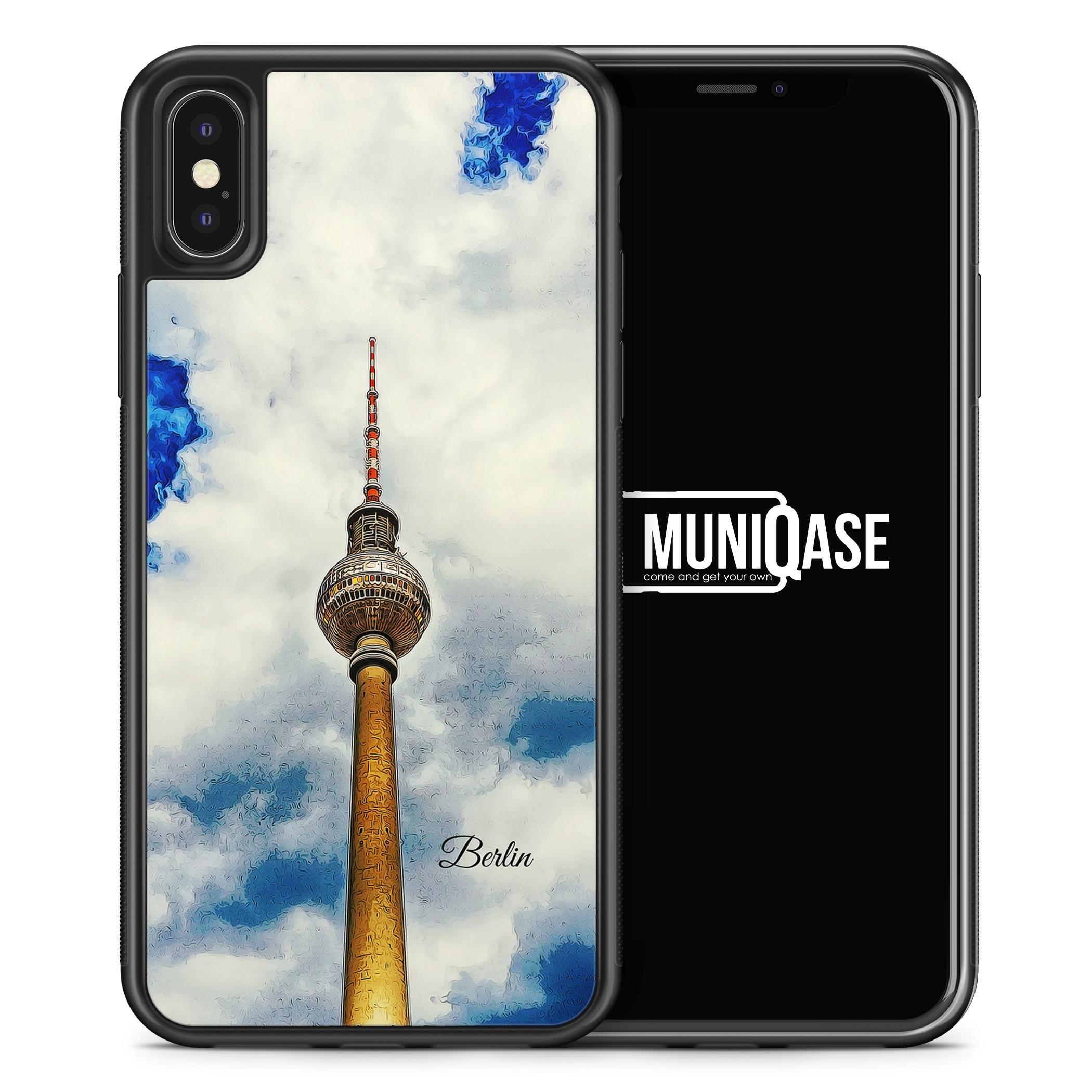 iPhone X Hülle SILIKON - Panorama Berlin Olympiaturm