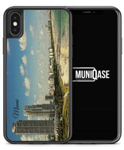 iPhone X Hülle SILIKON - Panorama Miami